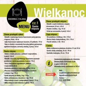 menu wielkanoc