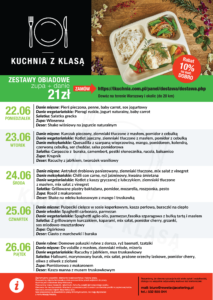 aktualne menu 22 - 26 czerwca